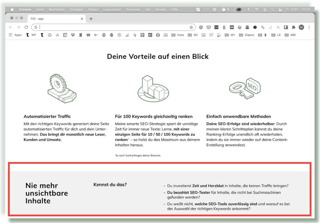 Design-Tipps Seitenaufbau
